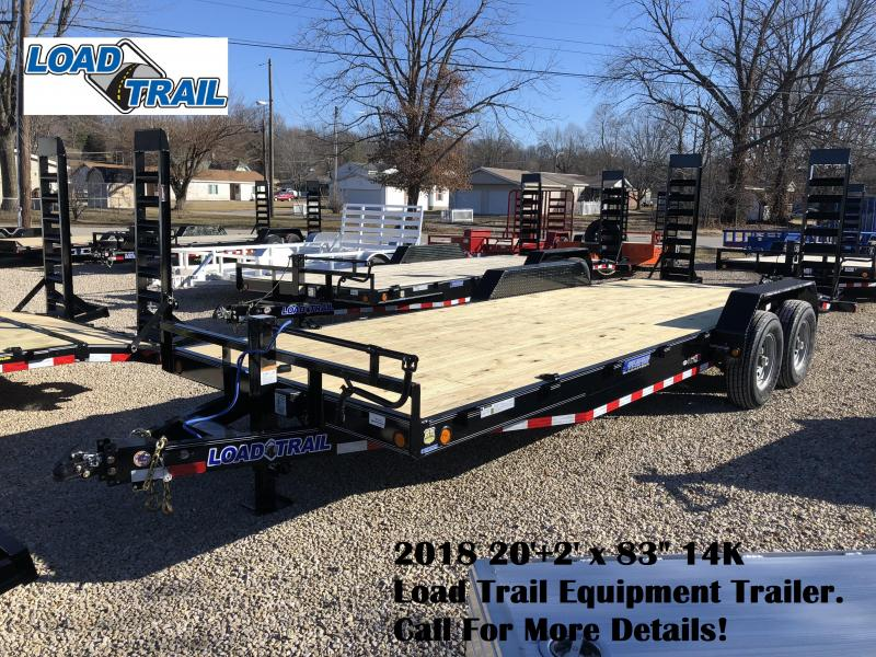 "2018 20'+2' x 83"" 14K Load Trail Equipment Trailer. 56335"