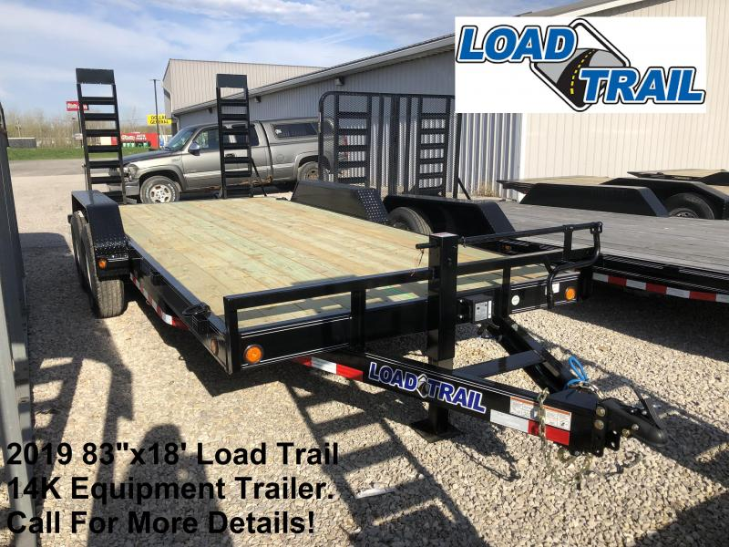 "2019 83""x18' 14K Load Trail Equipment Trailer. 85487"