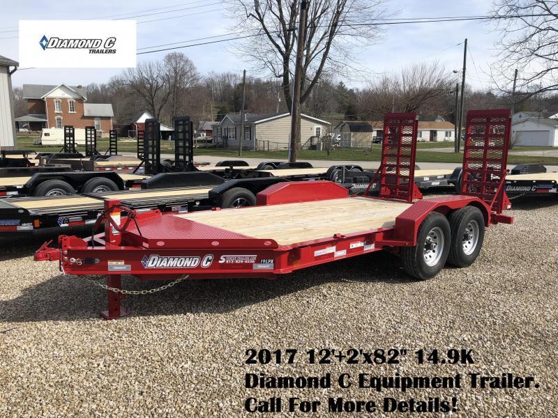 "2017 12'+2'x82"" 14.9K Diamond C Equipment Trailer. 89235"