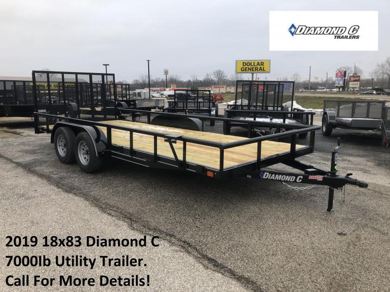 2019 18x83 7K Diamond C Utility Trailer. 8858