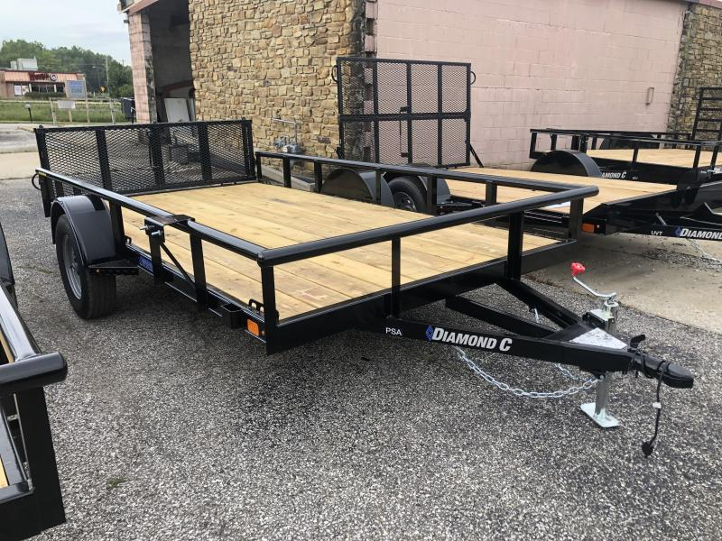 2019 12x77 Diamond C Utility Trailer. 18534