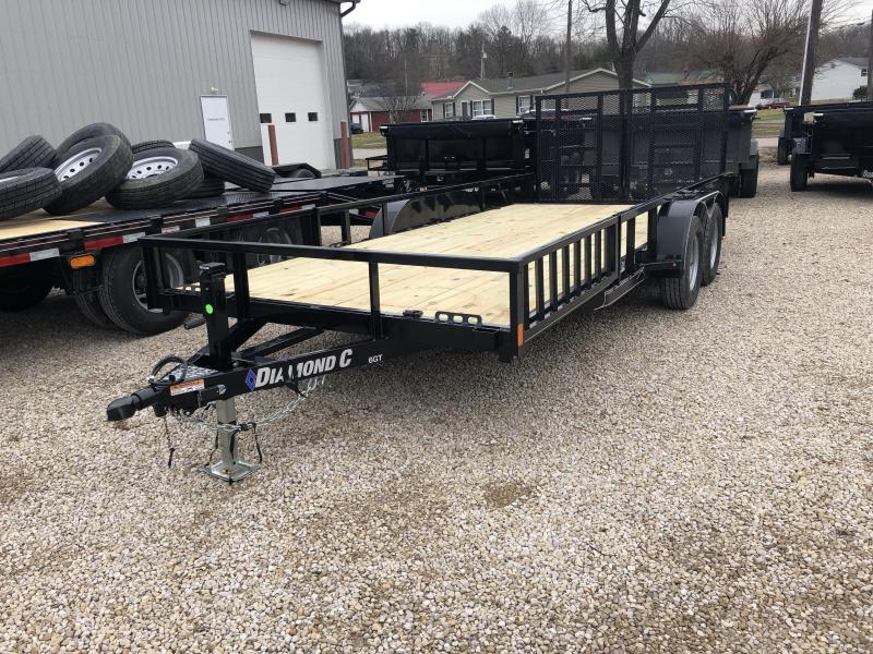 "2019 16'+2'x83"" 7K Diamond C Utility Trailer. 10061"