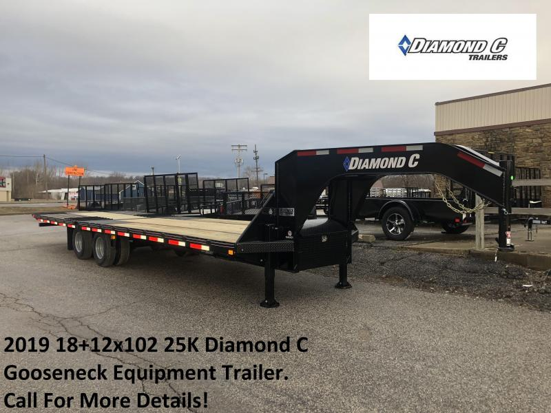 2019 18+12x102 25K Diamond C GN Engineered Beam Equipment Trailer. 10259