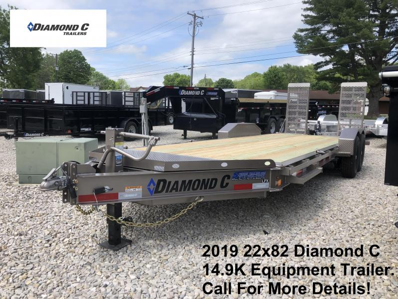 2019 22x82 14.9K Diamond C Equipment Trailer. 14432