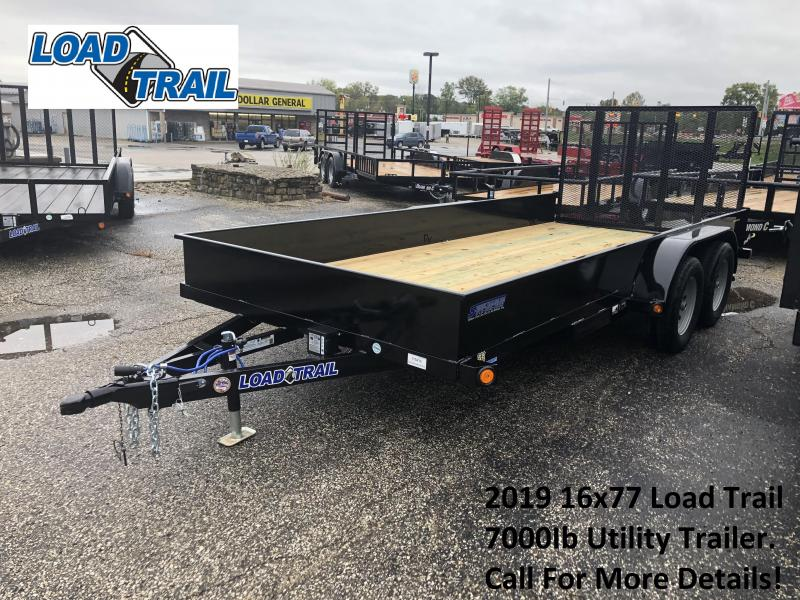 2019 16x77 7K Load Trail Utility Trailer. 75436