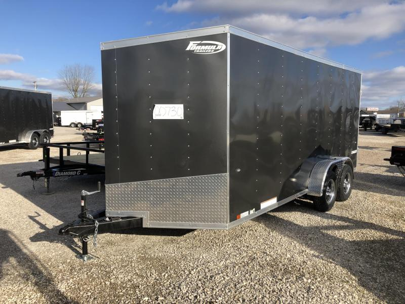 2019 7x16 7K Formula Enclosed Trailer. 730