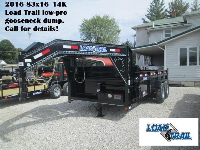 2016 83x16 14k Load Trail Low-Pro Gooseneck Dump. 95589