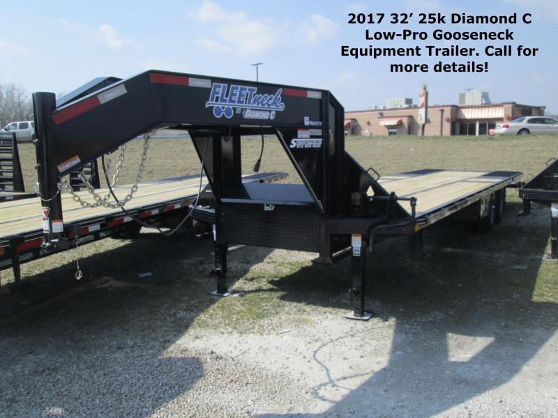 2017 32' 25k GVWR Diamond C Low-Pro Gooseneck Equipment Trailer.  86306