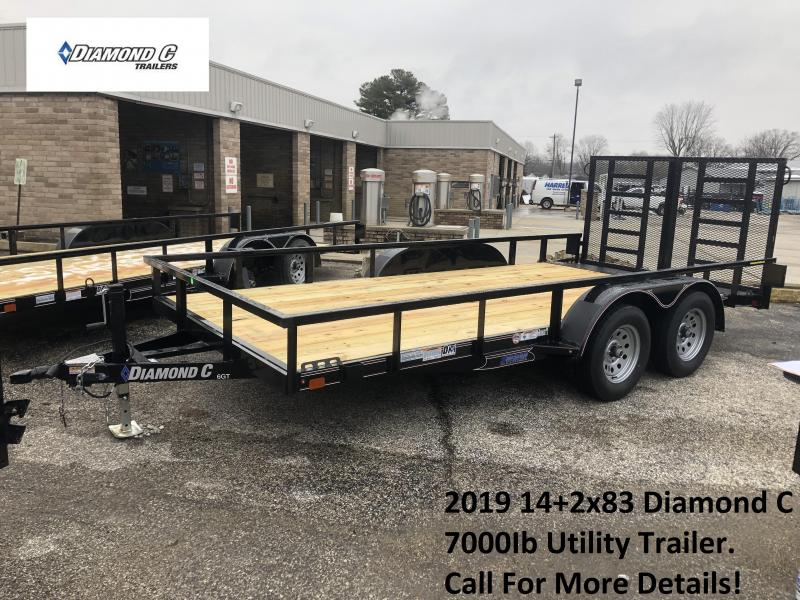 2019 14+2x83 7K Diamond C Utility Trailer. 10208
