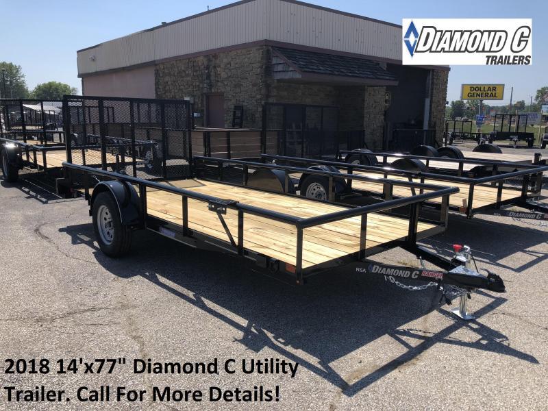 "2018 14'x77"" Diamond C Utility Trailer. 3183"