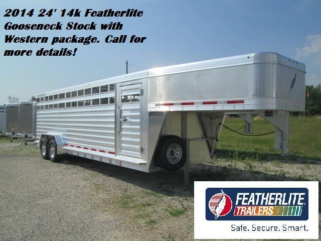 2014 24' 14k Featherlite Gooseneck Stock Trailer. 135482