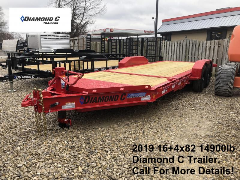2019 16+4x82 14.9K Diamond C Equipment Trailer. 12732