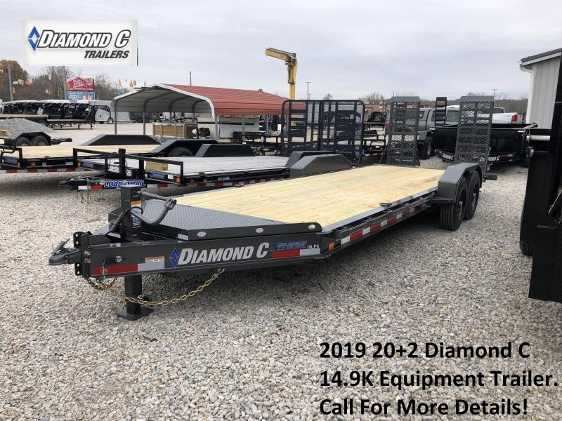 2019 20+2 14.9K Diamond C Equipment Trailer. 7970