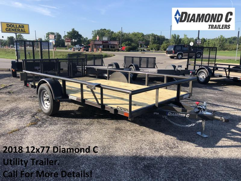 2018 12x77 Diamond C Utility Trailer. 4603