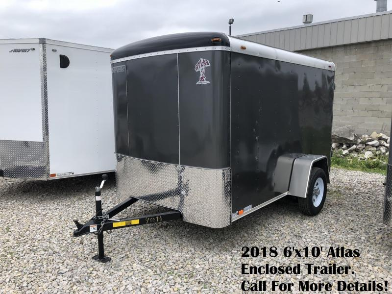 2018 6'x10' Atlas Enclosed Trailer. 40096