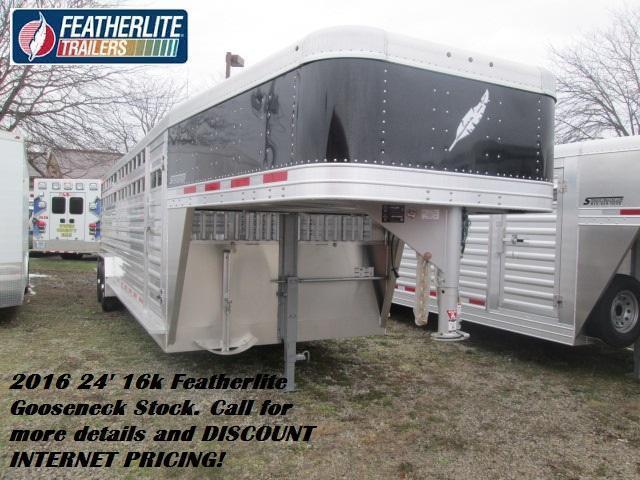 2016 24' 16k Featherlite Gooseneck Stock. 141351