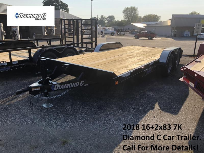 2018 16+2x83 7K Diamond C Car Trailer. 4290