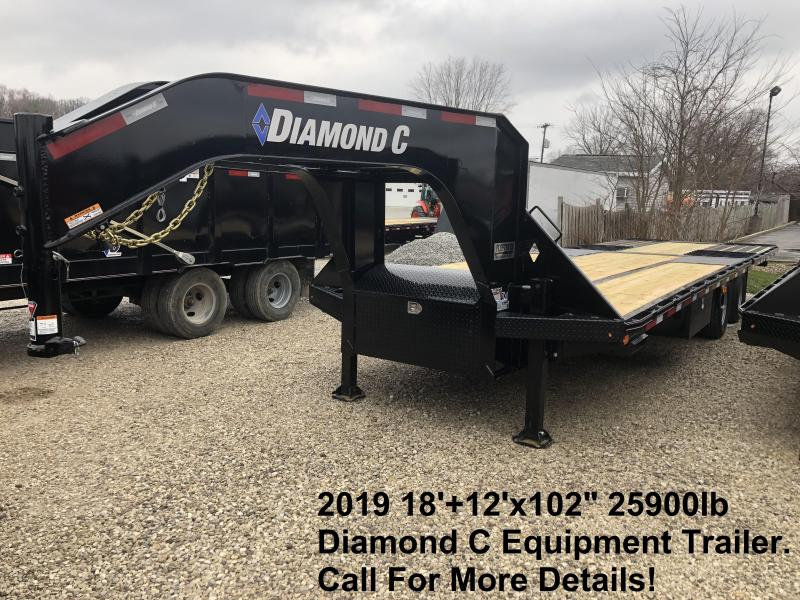 "2019 18'+12'x102"" 25.9K Diamond C Engineer Beam Equipment Trailer. 11680"