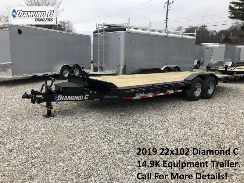 2019 22x102 14.9K Diamond C Equipment Trailer. 6902