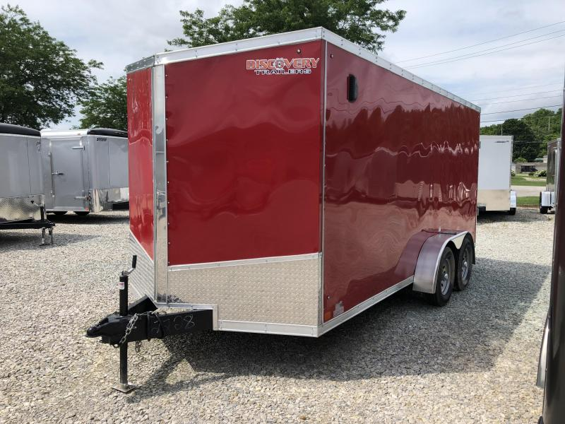 2019 7x16 7K Discovery Enclosed Trailer. 2228