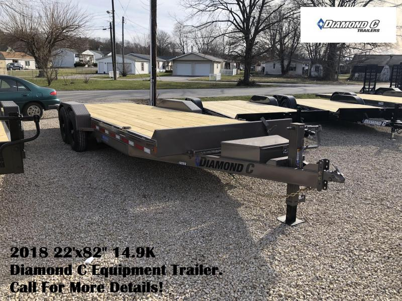 "2018 22'x82"" 14.9K Diamond C Equipment Trailer. 98148"