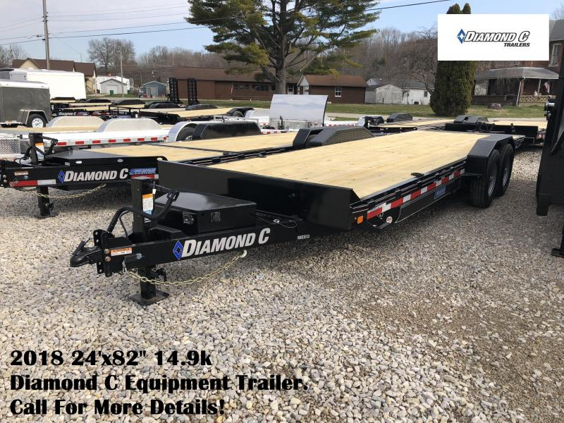"2018 24'x82"" 14.9k Diamond C Equipment Trailer. 98940"