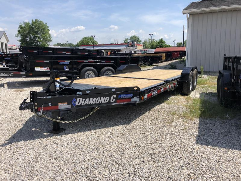 "2018 16'+6'x82"" 14.9K Diamond C Equipment Trailer. 01367"