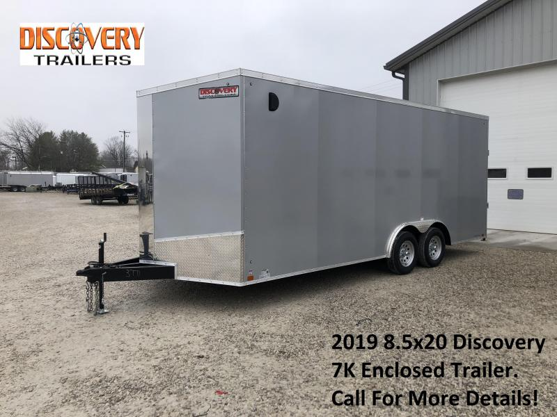 2019 8.5x20 7K Discovery Enclosed Trailer. 3771