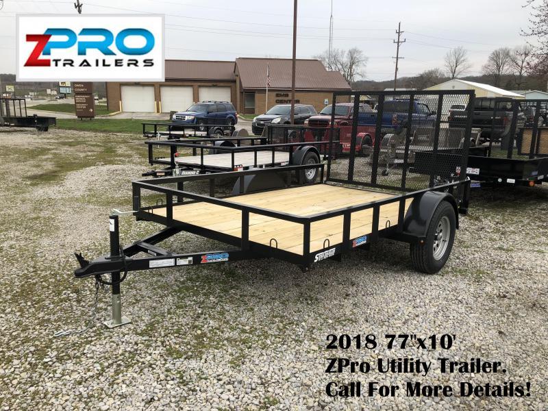 "2018 77""x10' ZPro Utility Trailer. 88040"