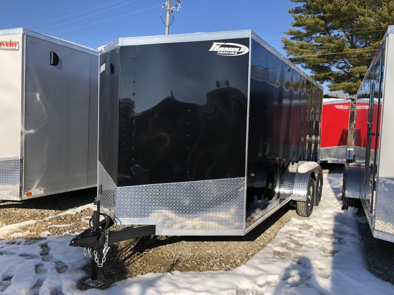 2019 7'x16' 7K Formula Enclosed Trailer. 00821