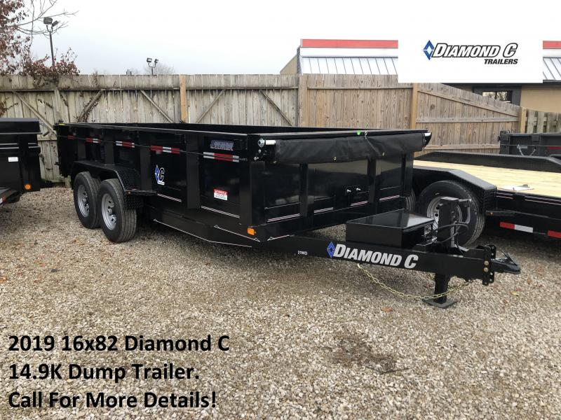 2019 16x82 14.9K Diamond C Dump Trailer. 8776
