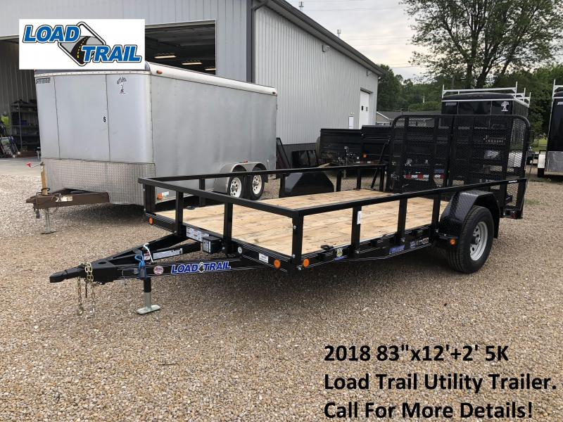"2018 83""x12'+2' 5K Load Trail Utility Trailer. 68888"