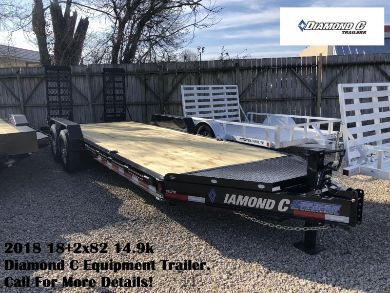 2018 18+2x82 14.9k Diamond C Equipment Trailer. 98619