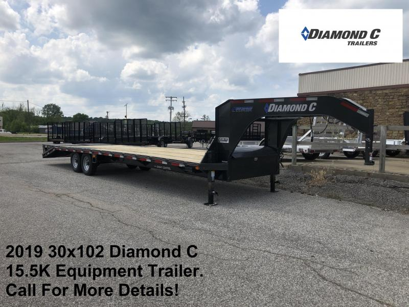 2019 30x102 15.5K Diamond C Equipment Trailer. 13604