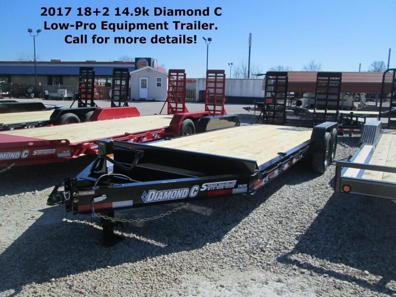 2017 18+2 14900 GVWR Diamond C Low-Pro Equipment Trailer. 86152