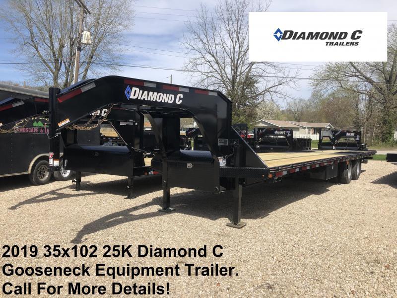 2019 23+12x102 25K Diamond C Engineer Beam GN Equipment Trailer. 13588