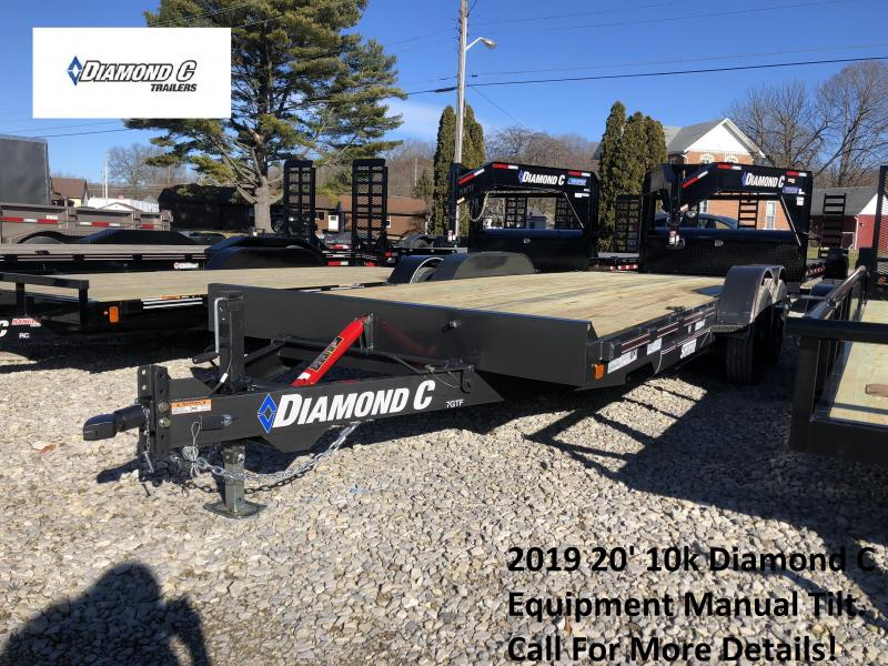 2019 20' 10k Diamond C Flatbed Equipment Manual Tilt. 08402