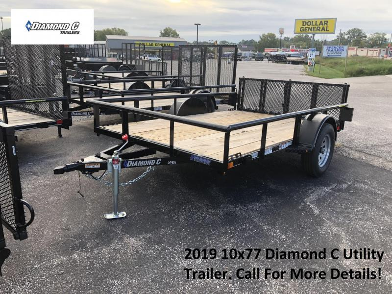 2019 10x77 Diamond C Utility Trailer. 4921