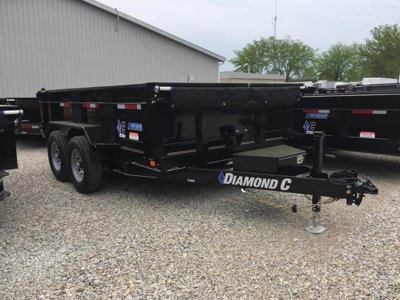 """2018 12'x82"""" 14.9K Diamond C Dump Trailer. 00479"""