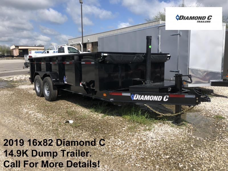 2019 16x82 14.9K Diamond C Dump Trailer. 13715