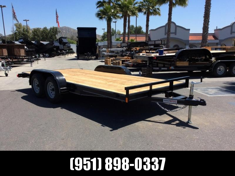 2019 Innovative Trailer Mfg. Economy Wood Floor Car Hauler 83 x 16 Flatbed Trailer