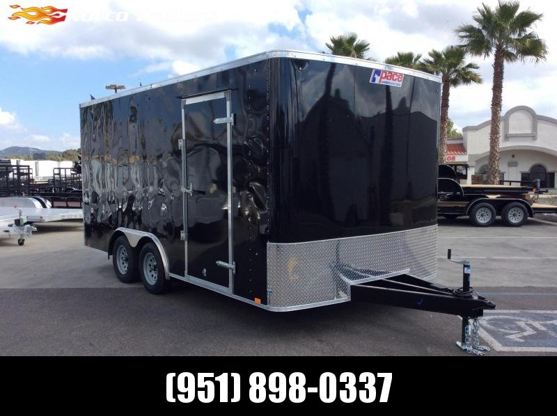 2019 Pace American Outback 8.5' x 16' Tandem Axle Enclosed Car/racing Trailer