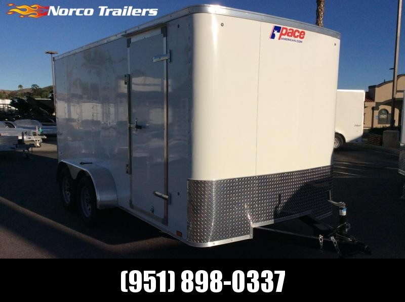 2019 Pace American Outback 7' x 14' Tandem Axle Enclosed Cargo Trailer