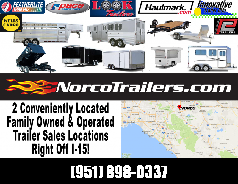 2019 Featherlite 3182 8.5' x 20' 7k Flatbed Car Trailer