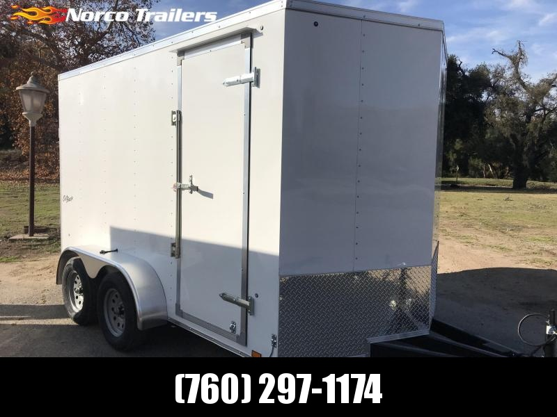 2019 Pace American Outback Vnose 7' x 12' Tandem Enclosed Cargo Trailer