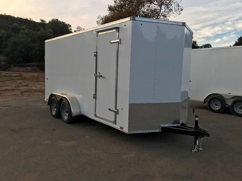 2018 Look Vnose STVLC 7' x 16' Enclosed Cargo Trailer
