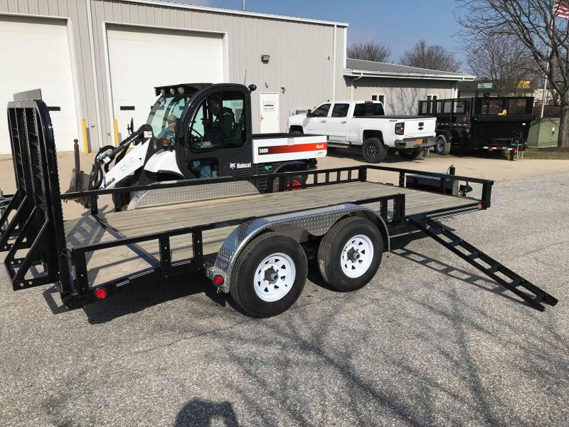 "2018 PJ Trailers 16' x 83"" Tandem Axle Channel Utili Trailer"