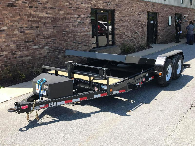 "2019 PJ Trailers 18' x 6"" Channel Equipment Tilt Trailer"