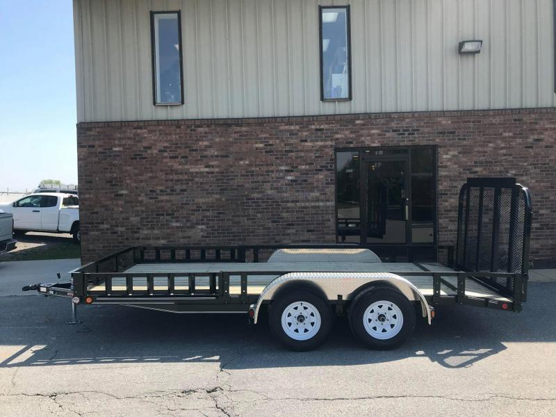 "2018 PJ Trailers 16' x 77"" Tandem Axle Channel Utili Trailer"
