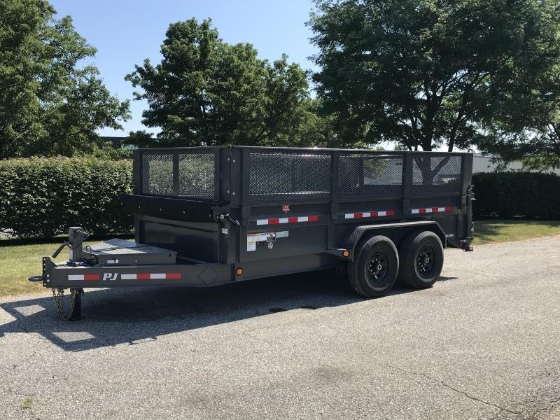"2019 PJ Trailers 14' x 83"" Low Pro Dump Trailer"